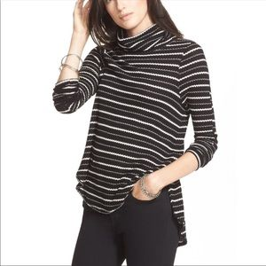 We The Free People Drippy Stripe Themal Top S
